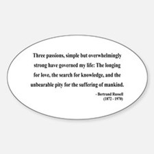 Bertrand Russell 7 Oval Decal