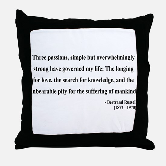 Bertrand Russell 7 Throw Pillow