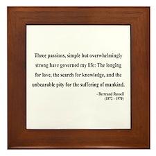 Bertrand Russell 7 Framed Tile
