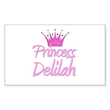 Princess Delilah Rectangle Sticker