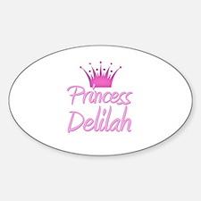 Princess Delilah Oval Decal