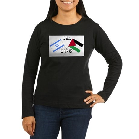 Israel and Palestine Peace Women's Long Sleeve Dar