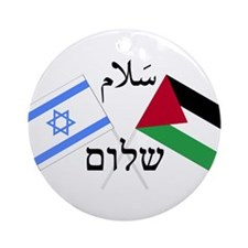 Israel and Palestine Peace Ornament (Round)