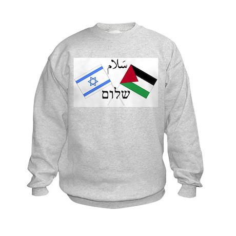 Israel and Palestine Peace Kids Sweatshirt
