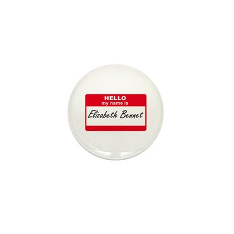My Name Is Elizabeth Bennet Mini Button