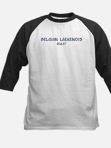Belgian Laekenois Rule Kids Baseball Jersey