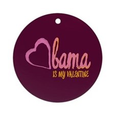 Obama Valentine Ornament (Round)