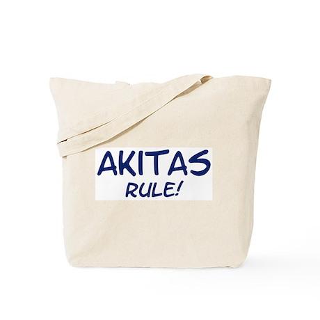 Akitas Rule Tote Bag