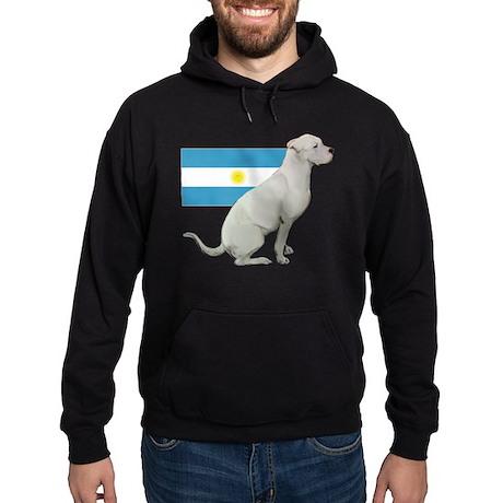 Dogo with Flag Hoodie (dark)