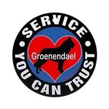 A Groenendael's Heart Ornament (Round)