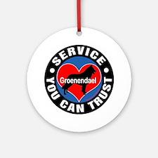 A Groenendael's Heart Ornament (Round)