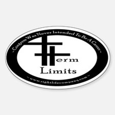 Term Limits Oval Decal
