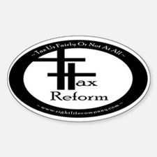 Tax Reform Oval Decal