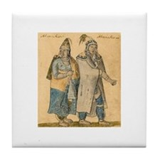 Cute Native art Tile Coaster