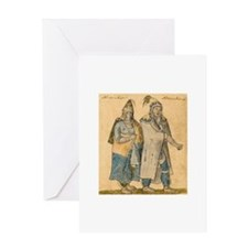 Cute Native america Greeting Card