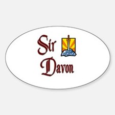 Sir Davon Oval Decal