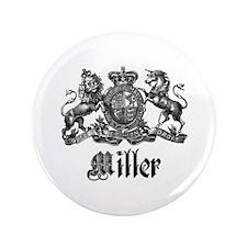 "Miller Vintage Crest Family Name 3.5"" Button (100"