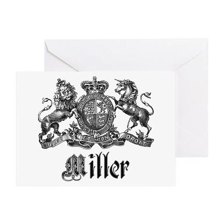 Miller Vintage Crest Family Name Greeting Card