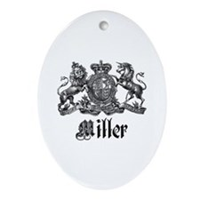 Miller Vintage Crest Family Name Oval Ornament