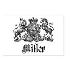 Miller Vintage Crest Family Name Postcards (Packag