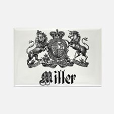 Miller Vintage Crest Family Name Rectangle Magnet