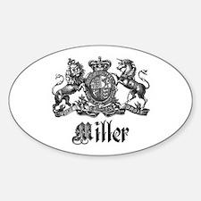 Miller Vintage Crest Family Name Oval Decal