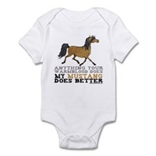 Mustang Horse Infant Bodysuit