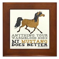 Mustang Horse Framed Tile