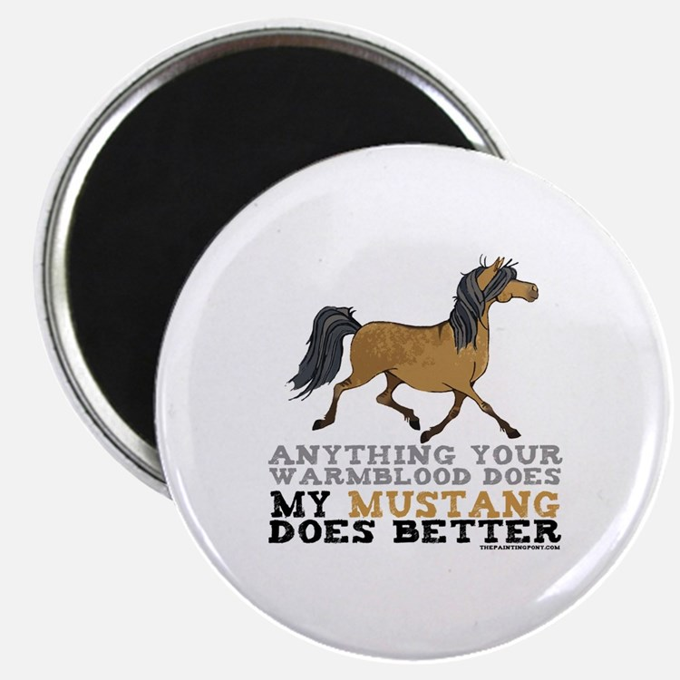 """Mustang Horse 2.25"""" Magnet (100 pack)"""