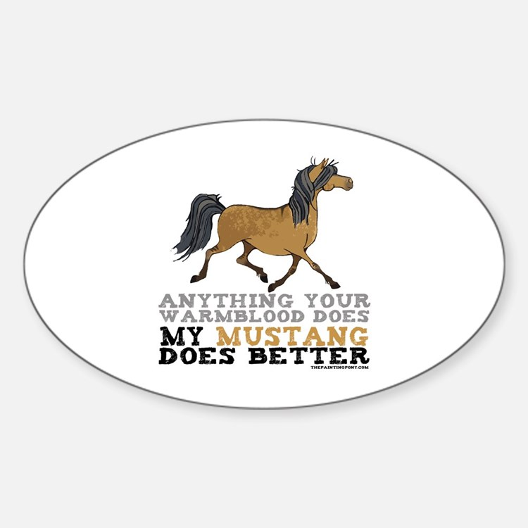 Mustang Horse Oval Decal