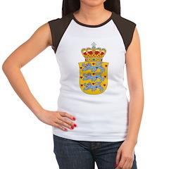 Denmark Coat Of Arms Women's Cap Sleeve T-Shirt