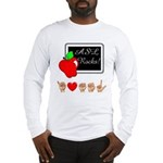 I Love ASL Male (Front) Long Sleeve T-Shirt