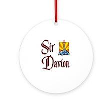 Sir Davion Ornament (Round)