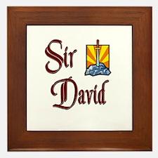 Sir David Framed Tile
