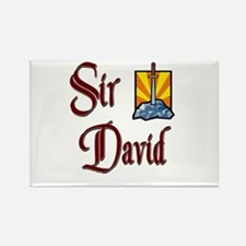 Sir David Rectangle Magnet