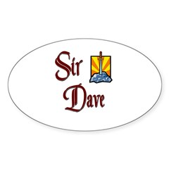 Sir Dave Oval Decal