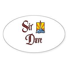Sir Dave Oval Decal