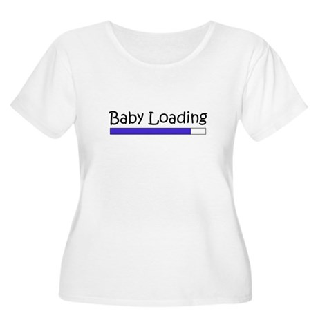 Baby Loading Women's Plus Size Scoop Neck T-Shirt