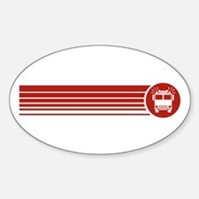 Retro Firefighting Oval Decal