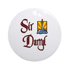 Sir Darryl Ornament (Round)