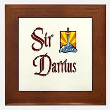 Sir Darrius Framed Tile