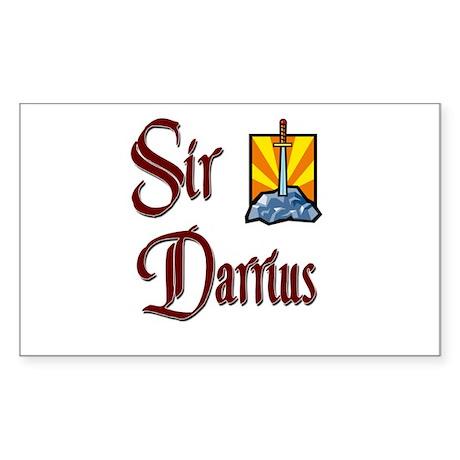 Sir Darrius Rectangle Sticker