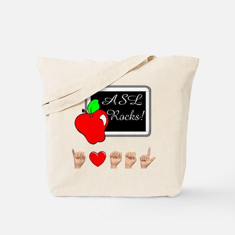 Teacher Female I Love ASL Female Tote Bag