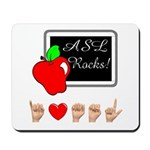 Teacher Female I Love ASL Mousepad