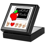 Teacher Female I Love ASL Keepsake Box