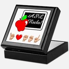 Teacher Female I Love ASL Keepsake Box