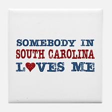 Somebody in South Carolina Loves Me Tile Coaster
