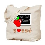 Teacher Male I Love ASL Tote Bag