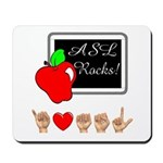 Teacher Male I Love ASL Mousepad