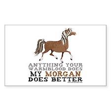 Morgan Horse Rectangle Decal